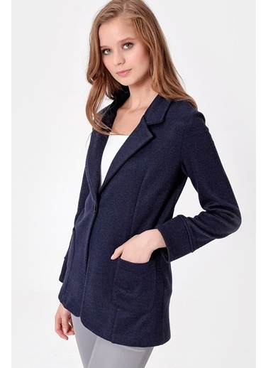 Jument Uzun Duble Kol Ceket Lacivert